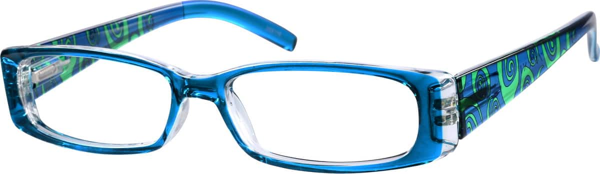 Women's Printed Rectangular Eyeglasses