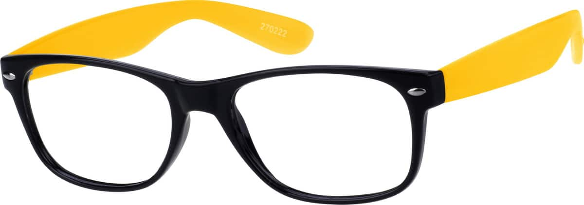 yellow plastic frame 2702 zenni optical eyeglasses