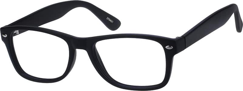 Black2704 Plastic Full-Rim Frame