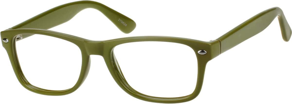 Green2704 Plastic Full-Rim Frame
