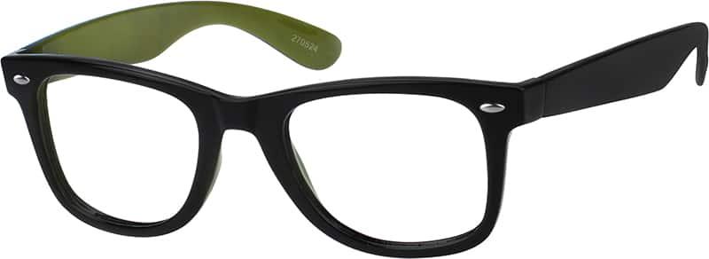 Green2705 Plastic Full-Rim Frame