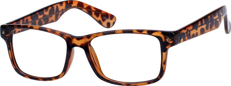 Men's Wide-Frame Wayfarer Eyeglasses