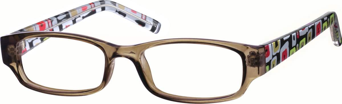 Kids' Patterned Rectangular Eyeglasses