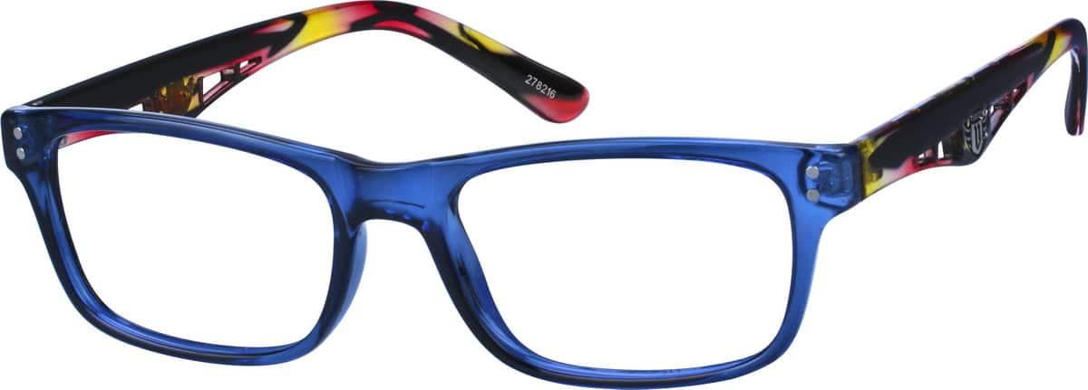 Artistic-Looking Wayfarer Eyeglasses