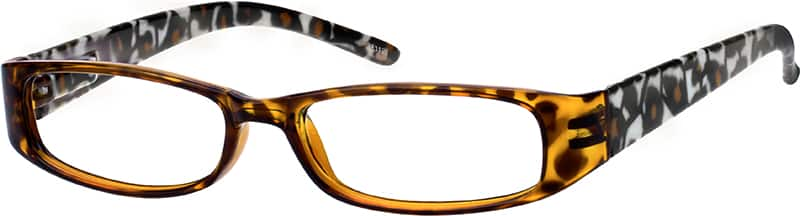 Women's Animal-Print Rectangular Eyeglasses