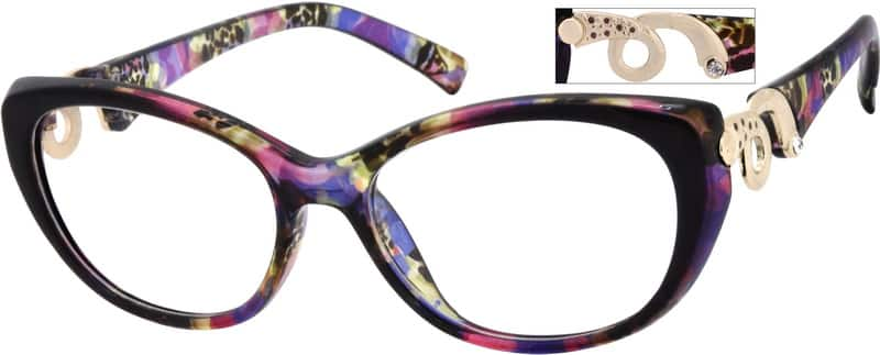 Women Full Rim Acetate/Plastic Eyeglasses #283021