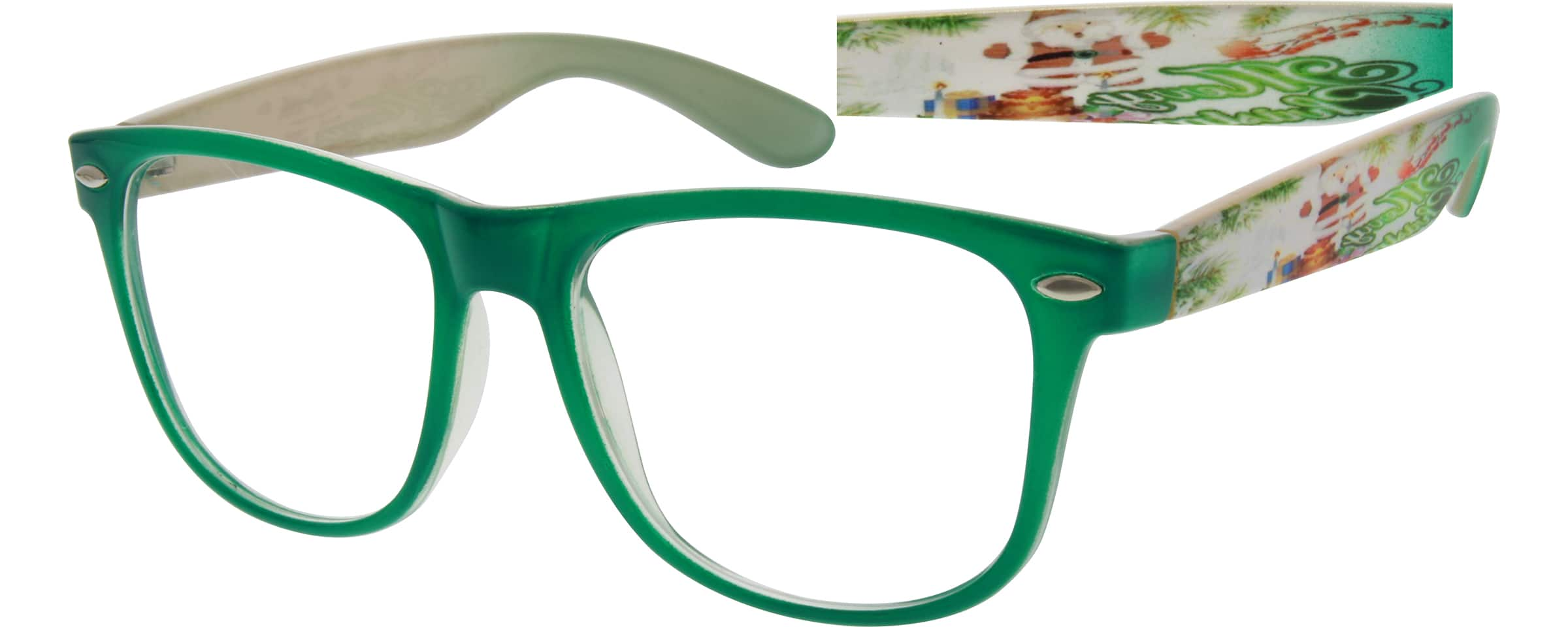 Green Plastic Full-Rim Frame #2846 Zenni Optical Eyeglasses
