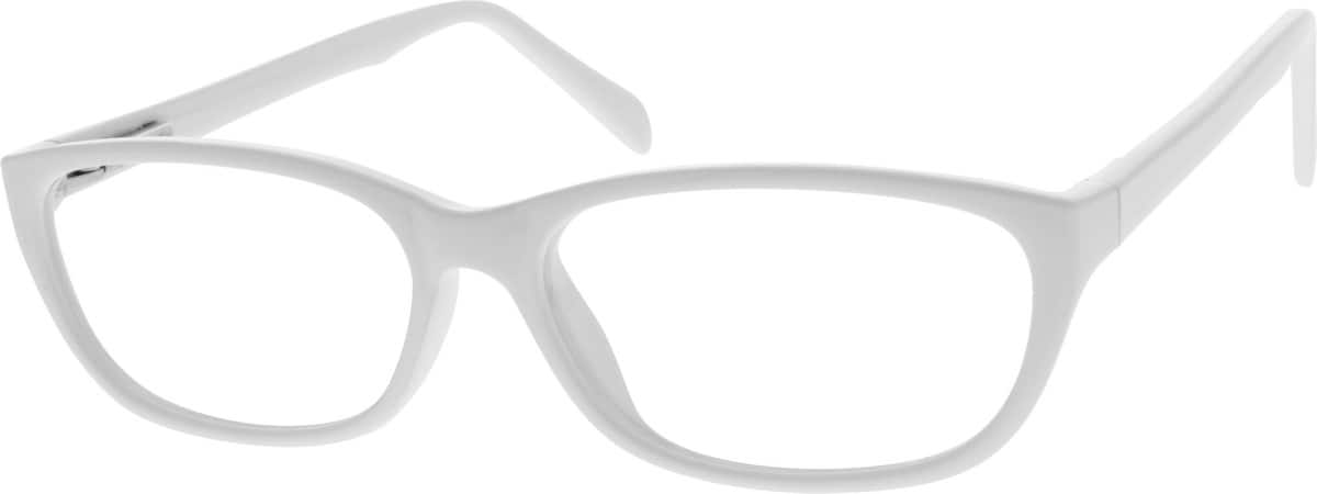 sleek white frames