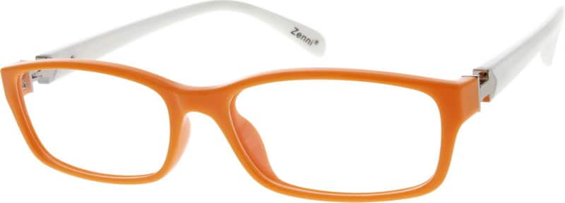 orange plastic frame 2924 zenni optical eyeglasses