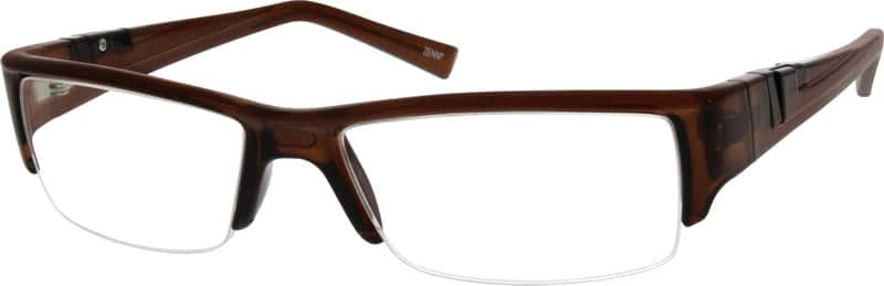 Blue Plastic Half-rim Frame #2943 Zenni Optical Eyeglasses
