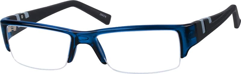 Men Half Rim Acetate/Plastic Eyeglasses #294316