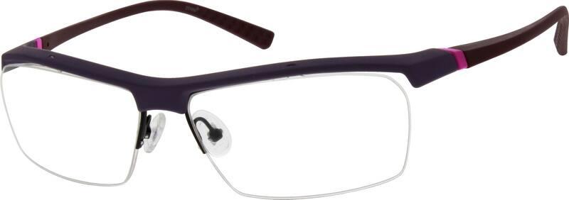 UnisexHalf RimAcetate/PlasticEyeglasses #296118