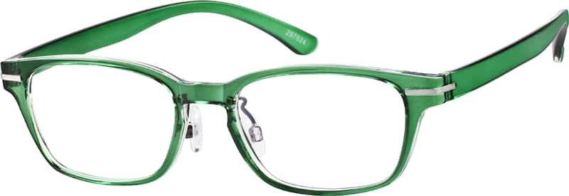 Green Stylized Rectangle Eyeglasses #2975 Zenni Optical ...