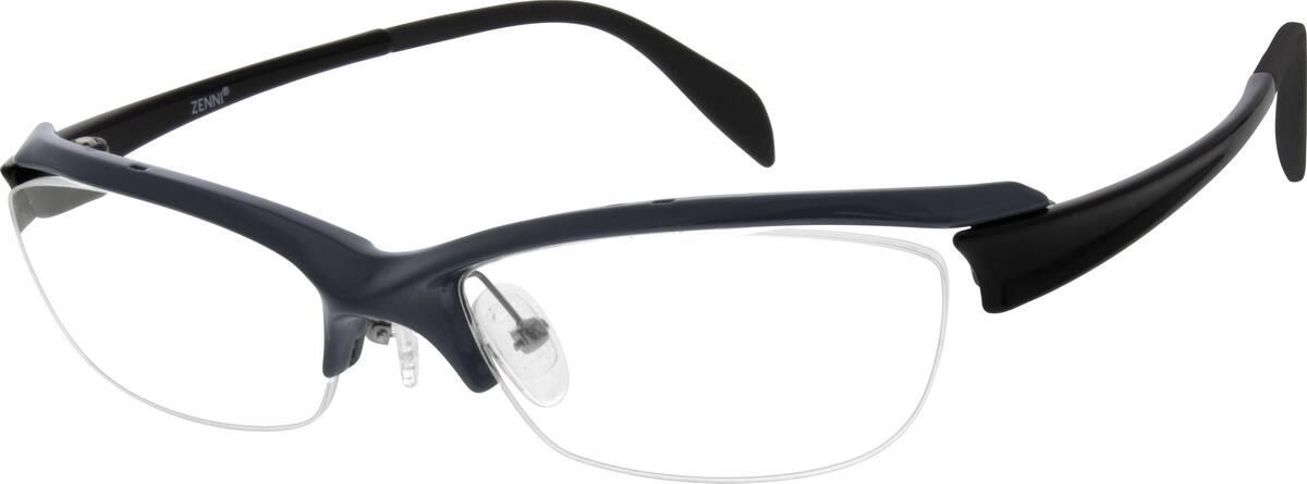 UnisexHalf RimAcetate/PlasticEyeglasses #299812