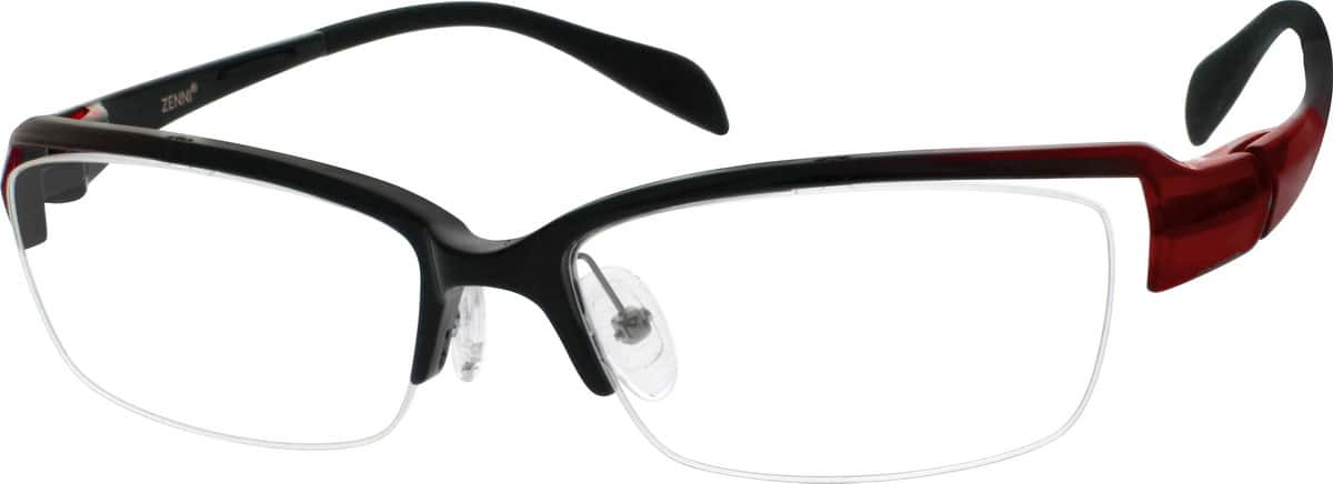 UnisexHalf RimAcetate/PlasticEyeglasses #299918