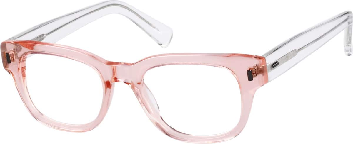 Women's Translucent Square Eyeglasses