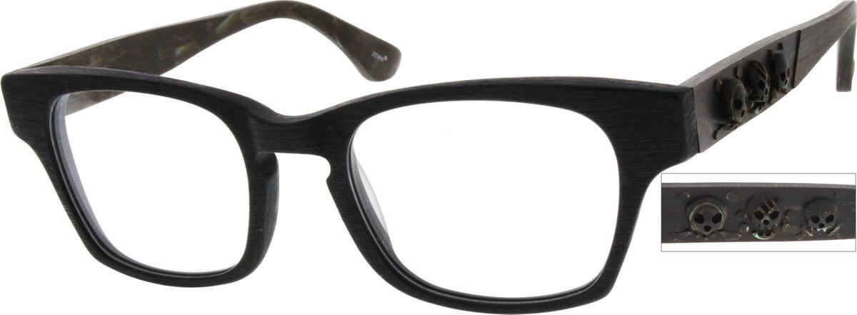 UnisexFull RimAcetate/PlasticEyeglasses #309433