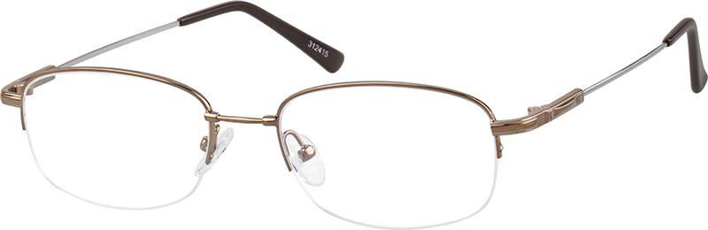 MenHalf RimMemory TitaniumEyeglasses #312415