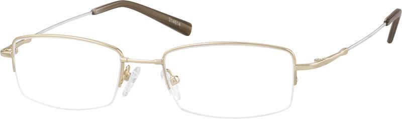 MenHalf RimMemory TitaniumEyeglasses #314614