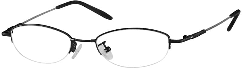 WomenHalf RimMemory TitaniumEyeglasses #315312