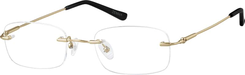 Gold 3158 Bendable (Memory) Titanium - Rimless with Full-Swing Hinges