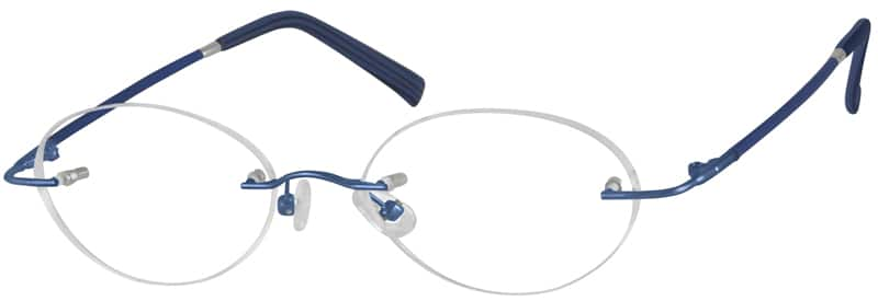 WomenRimlessMemory TitaniumEyeglasses #317621