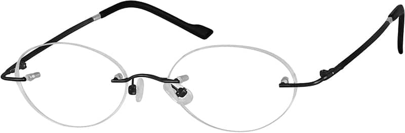 WomenRimlessMemory TitaniumEyeglasses #317612