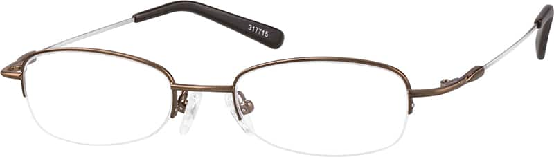 UnisexHalf RimMemory TitaniumEyeglasses #317715
