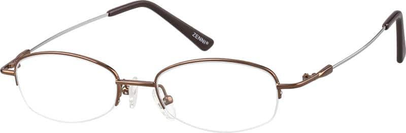 UnisexHalf RimMemory TitaniumEyeglasses #317915