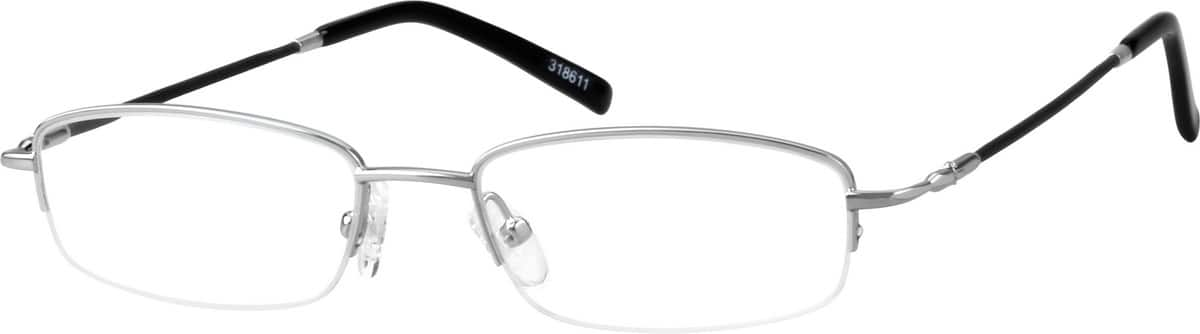 Bendable (Memory) Titanium Half-Rim Frame with Stainless Steel Bridge