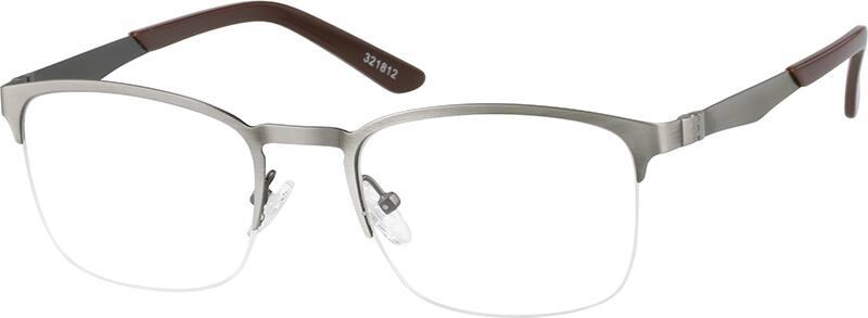 MenHalf RimStainless SteelEyeglasses #321821