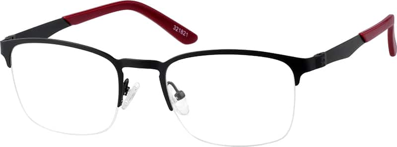 Zenni Optical Square Glasses : Black Square Eyeglasses #3218 Zenni Optical Eyeglasses