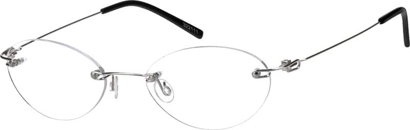Unisex Rimless Stainless Steel Eyeglasses #322114
