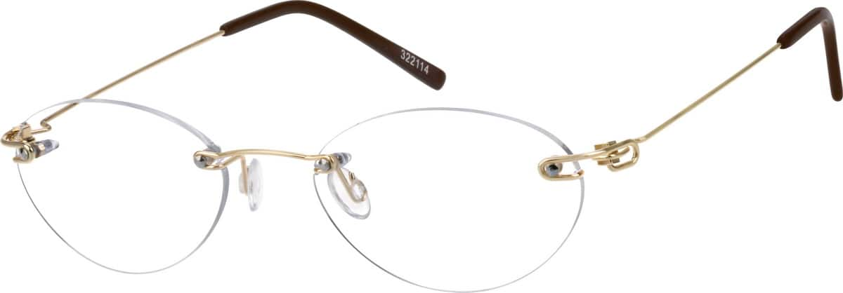 Gold 3221 Stainless Steel Rimless frame