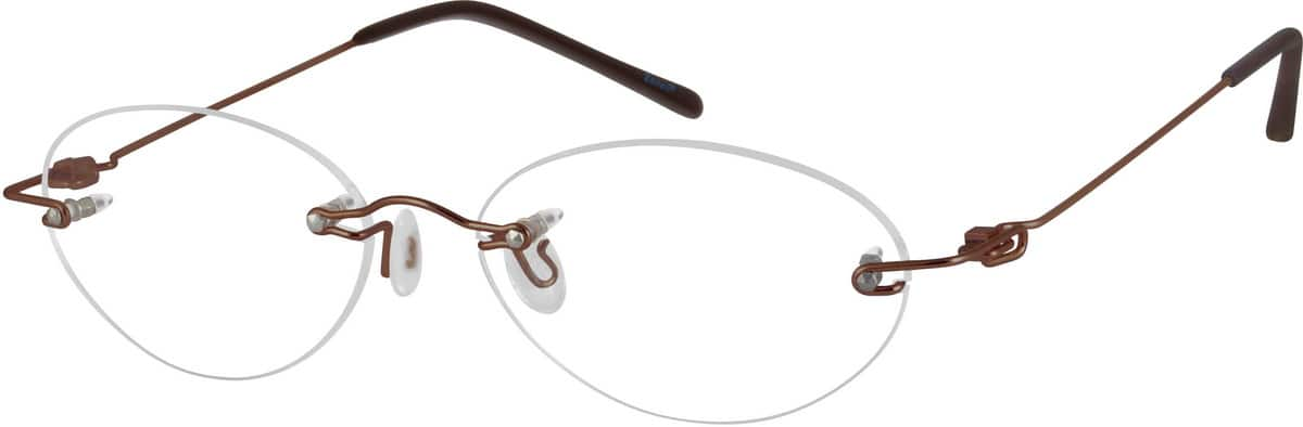 Brown 3221 Stainless Steel Rimless frame