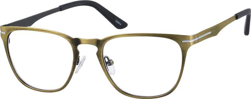 Zenni Optical Square Glasses : Gold Square Eyeglasses #3229 Zenni Optical Eyeglasses