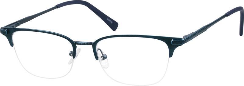 UnisexHalf RimStainless SteelEyeglasses #323416