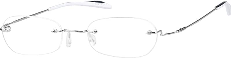Rimless Stainless Steel (Same Appearance as Frame #3148 Memory Titanium)