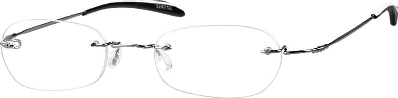 Grey 3247 Rimless Stainless Steel (Same Appearance as Frame #3148 Memory Titanium)