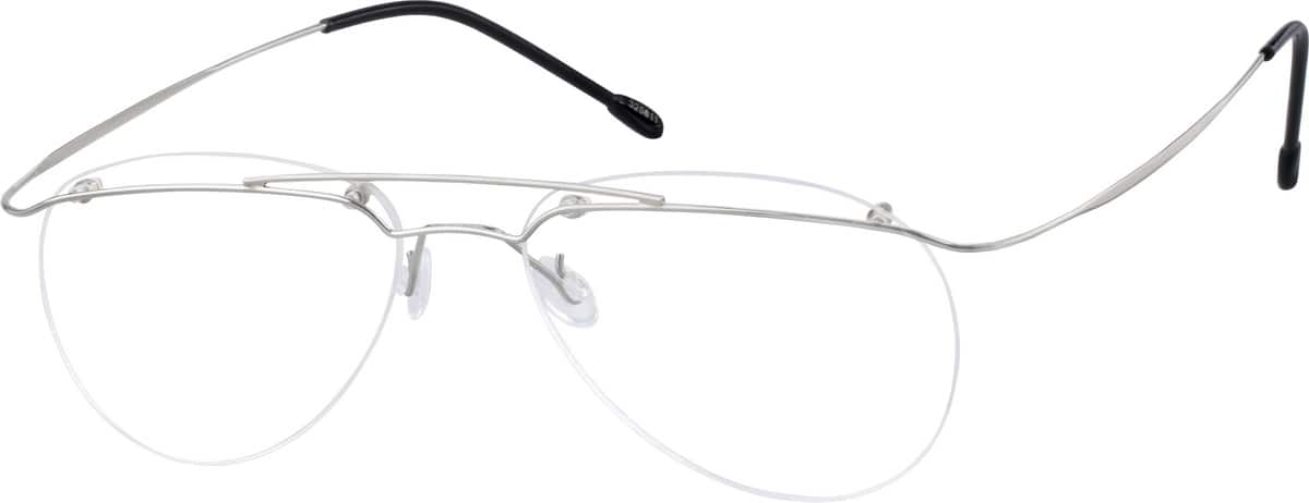 Unisex Rimless Stainless Steel Eyeglasses #325611