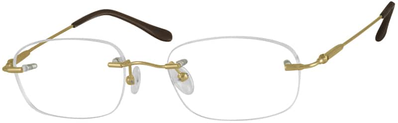 Women Rimless Stainless Steel Eyeglasses #325815