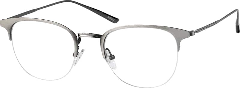 Gray Browline Eyeglasses #3273 Zenni Optical Eyeglasses