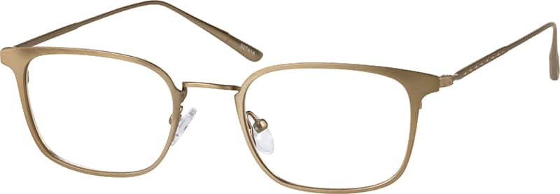 Unisex Full Rim Stainless Steel Eyeglasses #327412