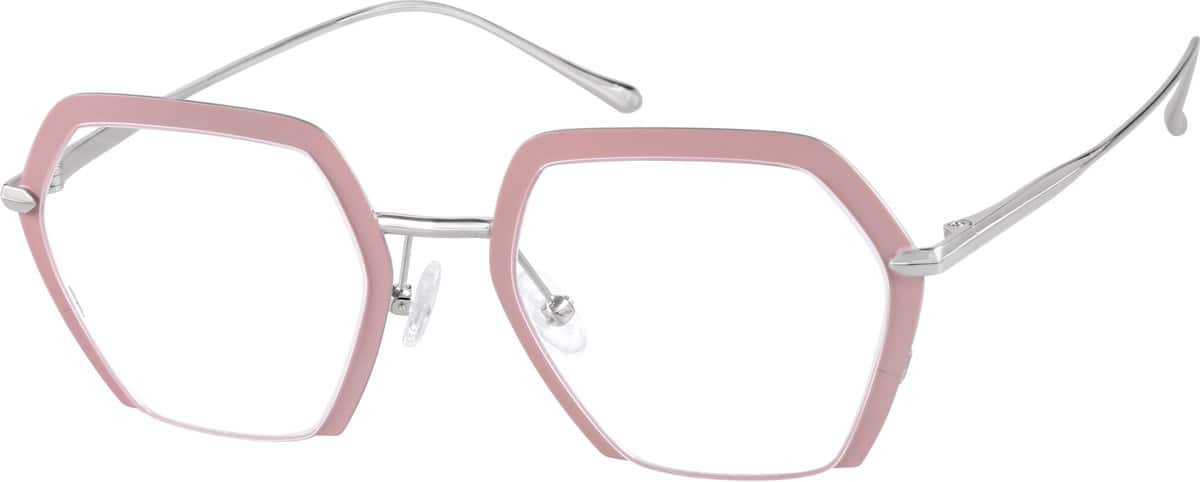 Women Full Rim Stainless Steel Eyeglasses #327819