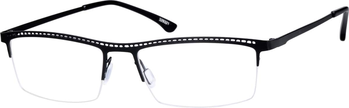 Men Half Rim Stainless Steel Eyeglasses #329322