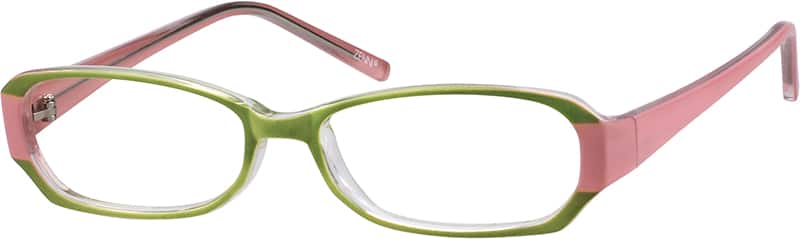 Green 3385 Stylish Plastic Full-Rim Frame