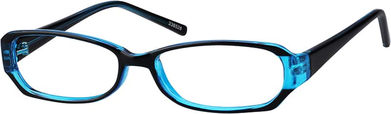 Blue 3385 Stylish Plastic Full-Rim Frame