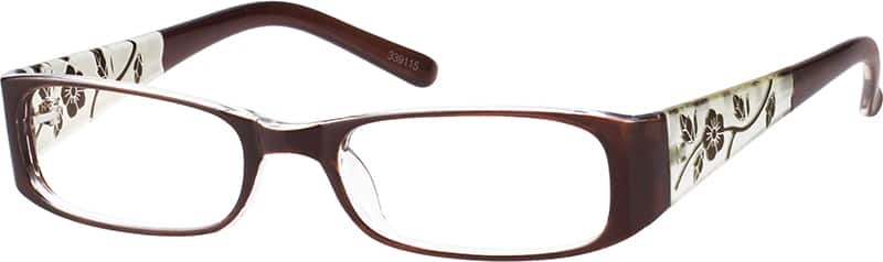 Women's Floral-Print Rectangular Eyeglasses