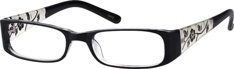 339121-two-tone-plastic-full-rim-frame-with-incised-pattern-on-temples-same-appearance-as-frame-8391