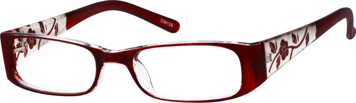 339128-two-tone-plastic-full-rim-frame-with-incised-pattern-on-temples-same-appearance-as-frame-8391